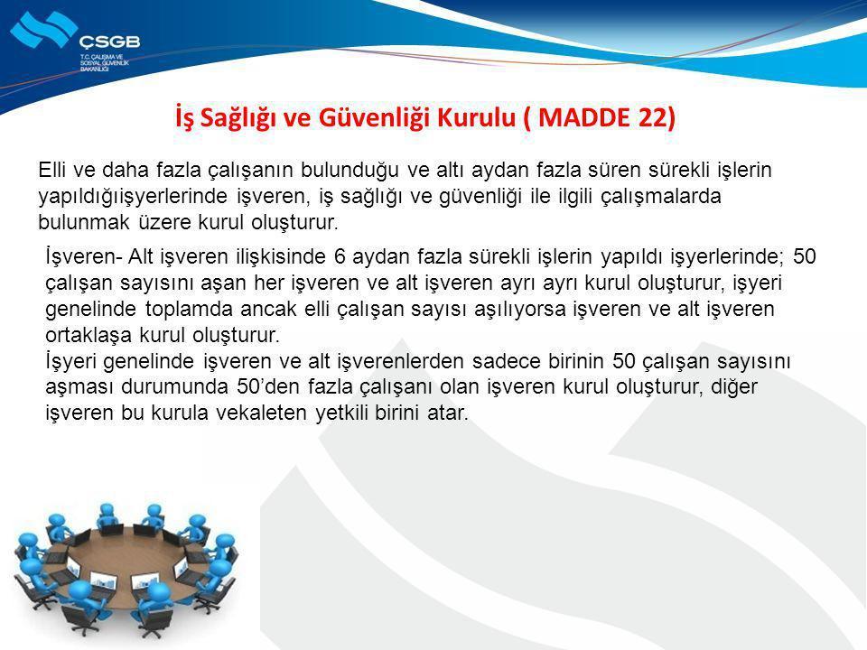 İş Sağlığı ve Güvenliği Kurulu ( MADDE 22)