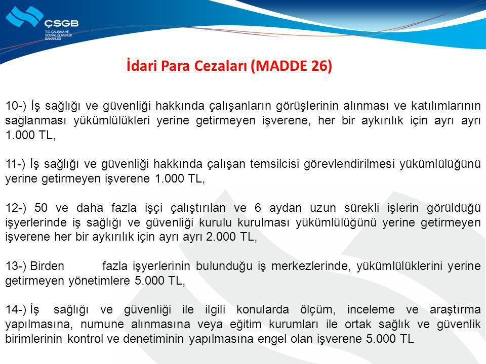 İdari Para Cezaları (MADDE 26)