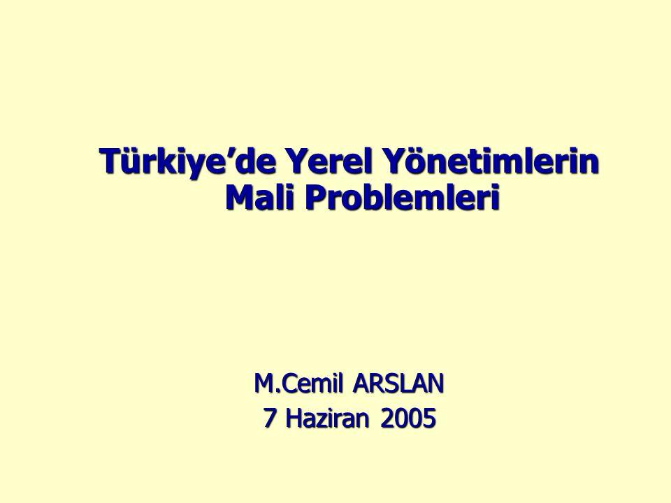 Türkiye'de Yerel Yönetimlerin Mali Problemleri