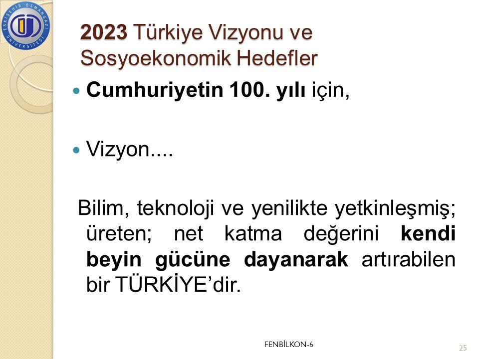 2023 Türkiye Vizyonu ve Sosyoekonomik Hedefler