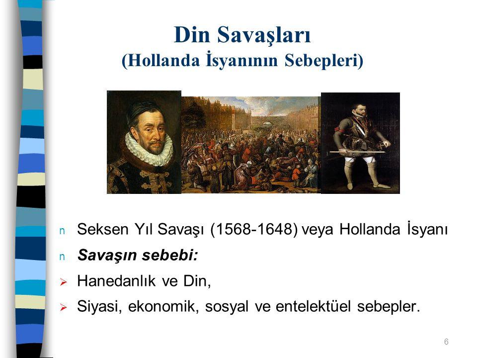 Din Savaşları (Hollanda İsyanının Sebepleri)
