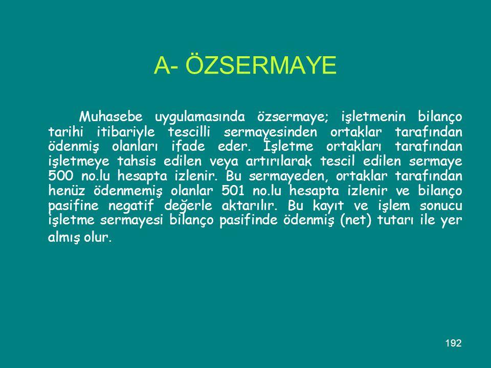 A- ÖZSERMAYE