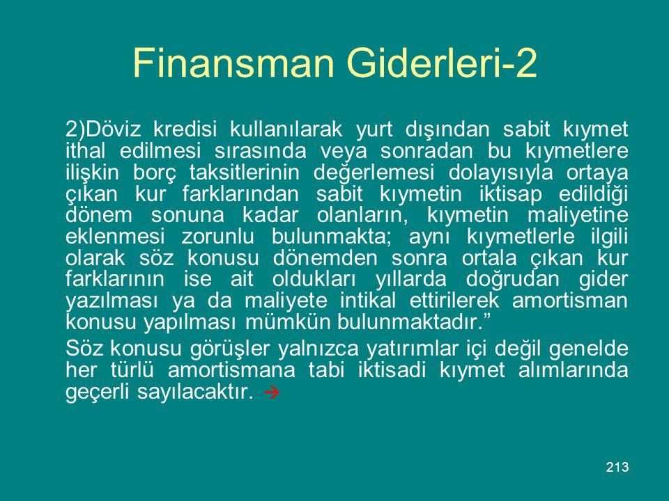 Finansman Giderleri-2