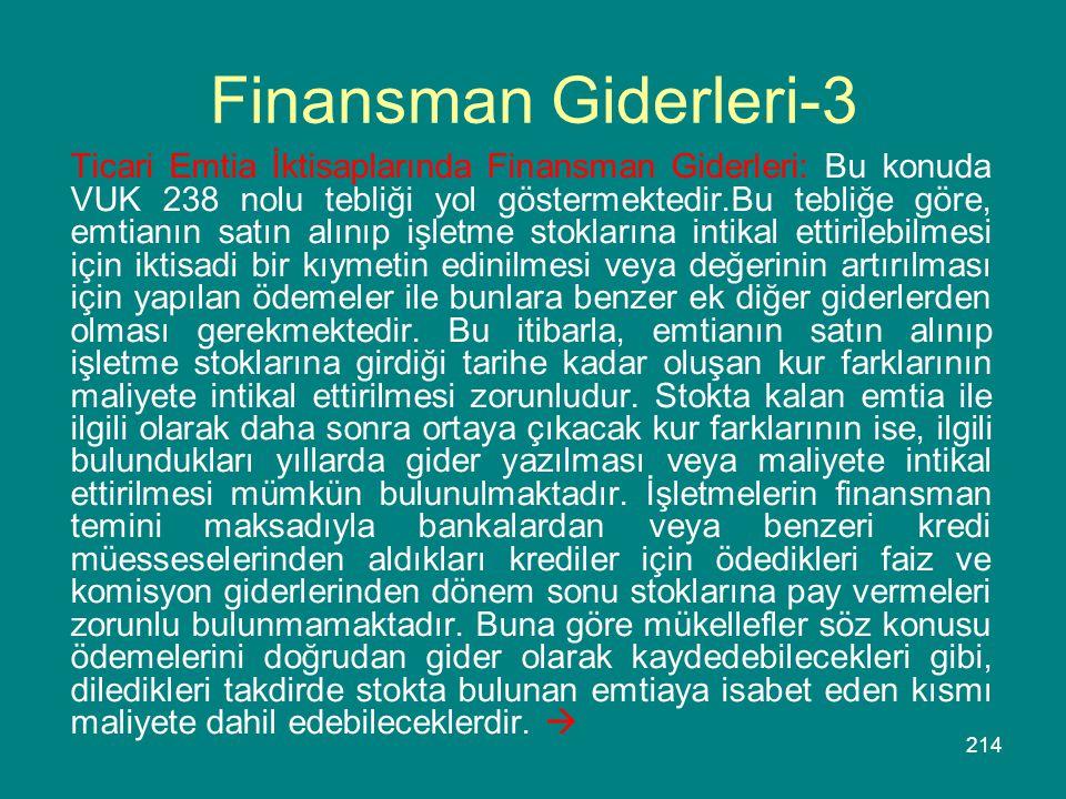 Finansman Giderleri-3