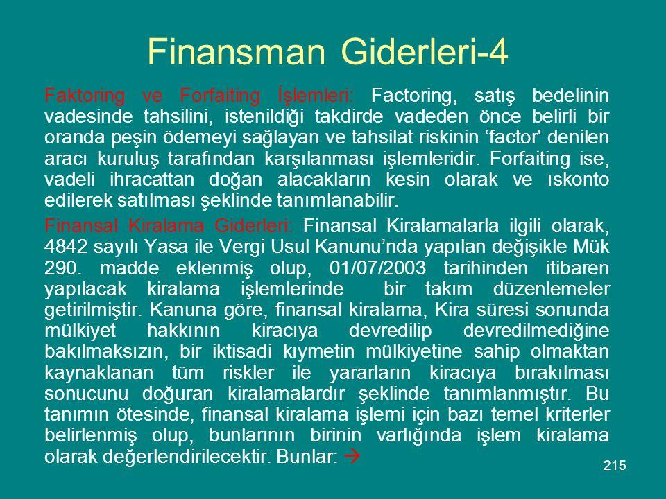 Finansman Giderleri-4