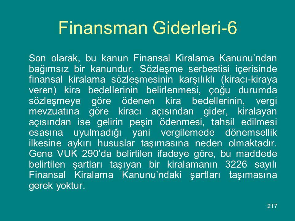 Finansman Giderleri-6