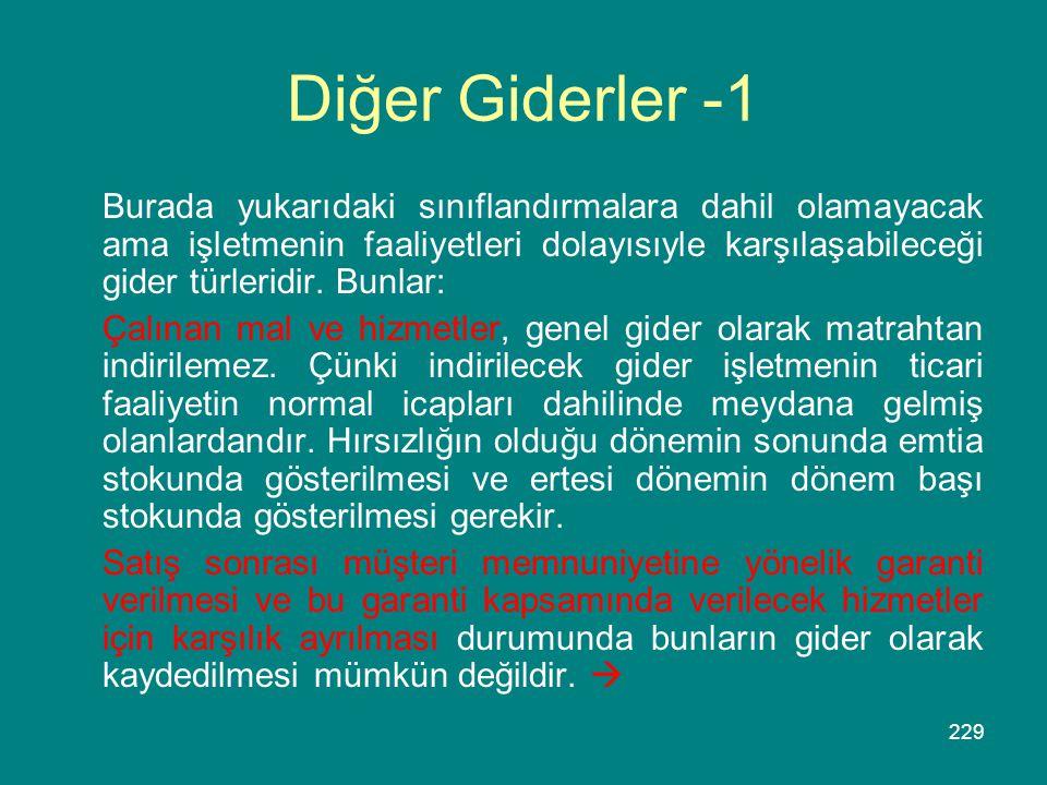 Diğer Giderler -1