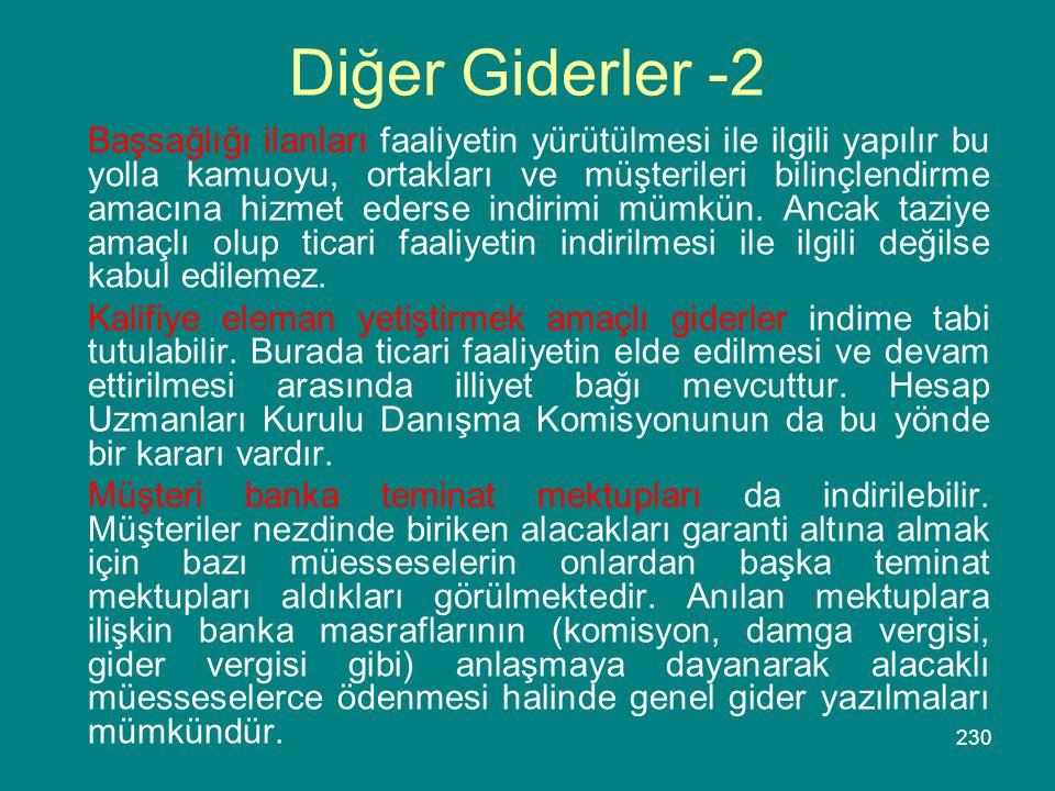 Diğer Giderler -2