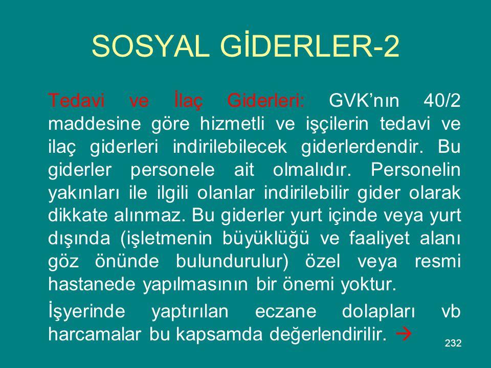 SOSYAL GİDERLER-2
