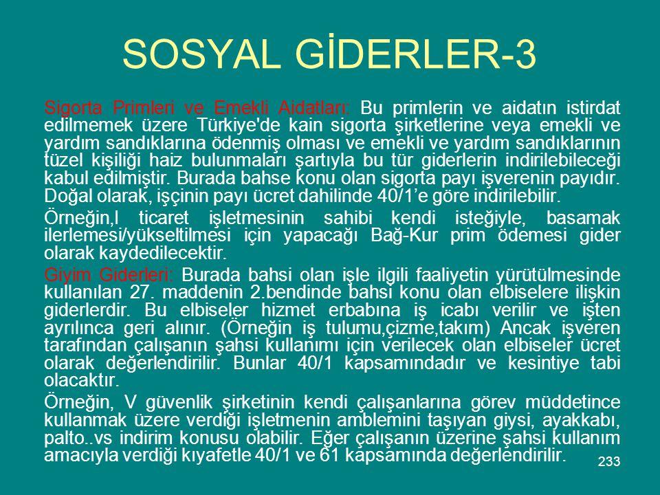 SOSYAL GİDERLER-3