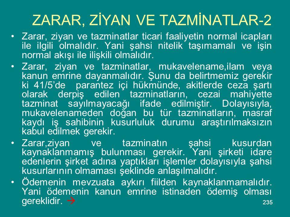 ZARAR, ZİYAN VE TAZMİNATLAR-2