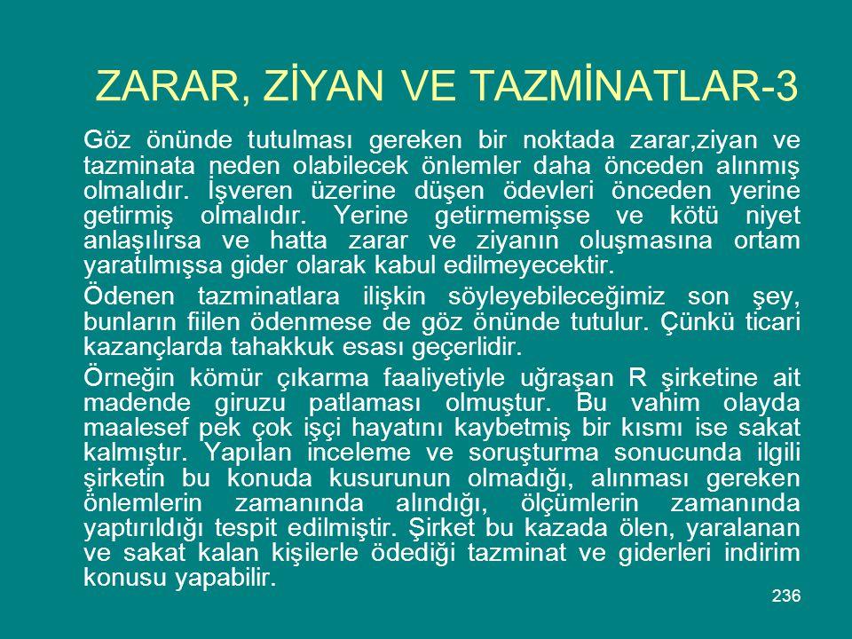 ZARAR, ZİYAN VE TAZMİNATLAR-3