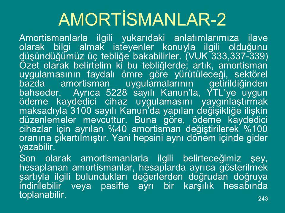 AMORTİSMANLAR-2