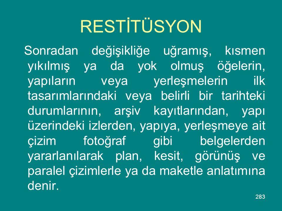 RESTİTÜSYON