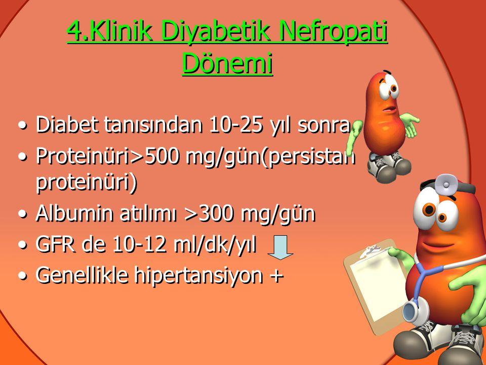 4.Klinik Diyabetik Nefropati Dönemi