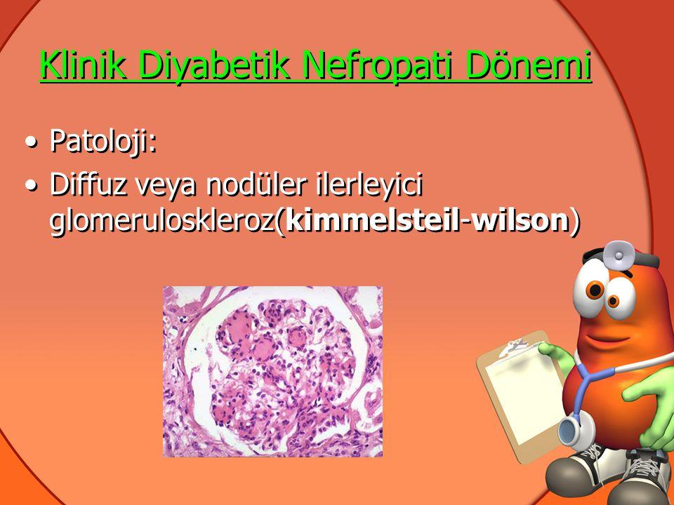 Klinik Diyabetik Nefropati Dönemi