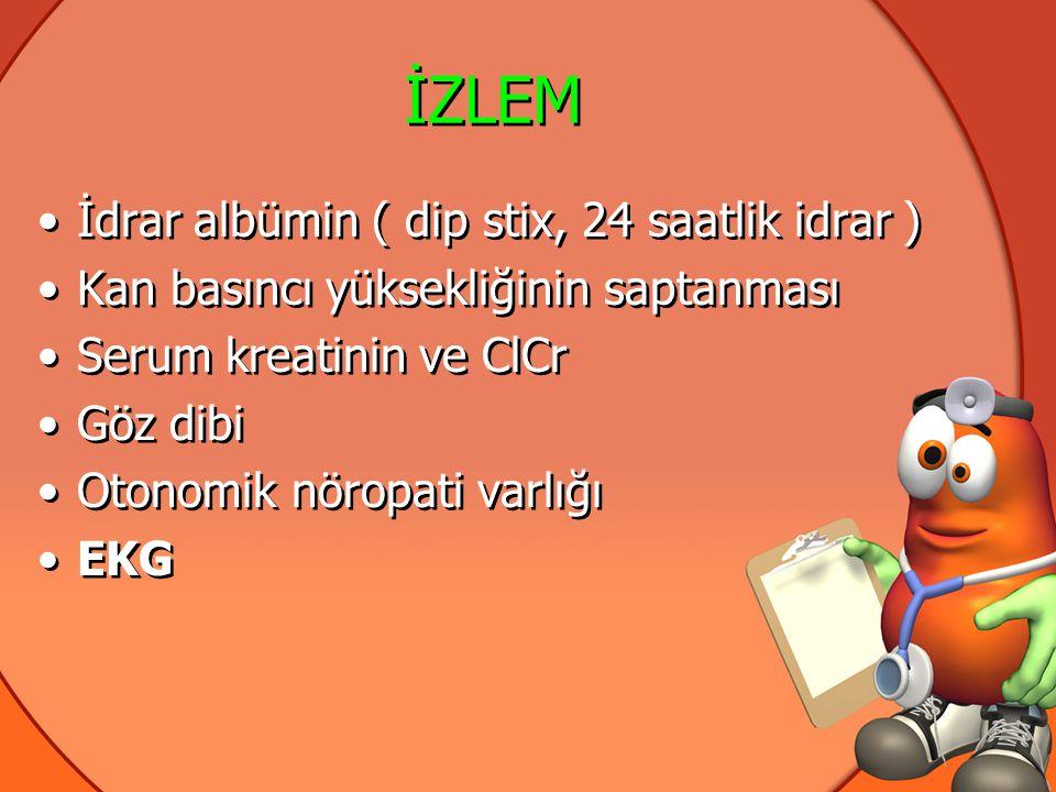 İZLEM İdrar albümin ( dip stix, 24 saatlik idrar )