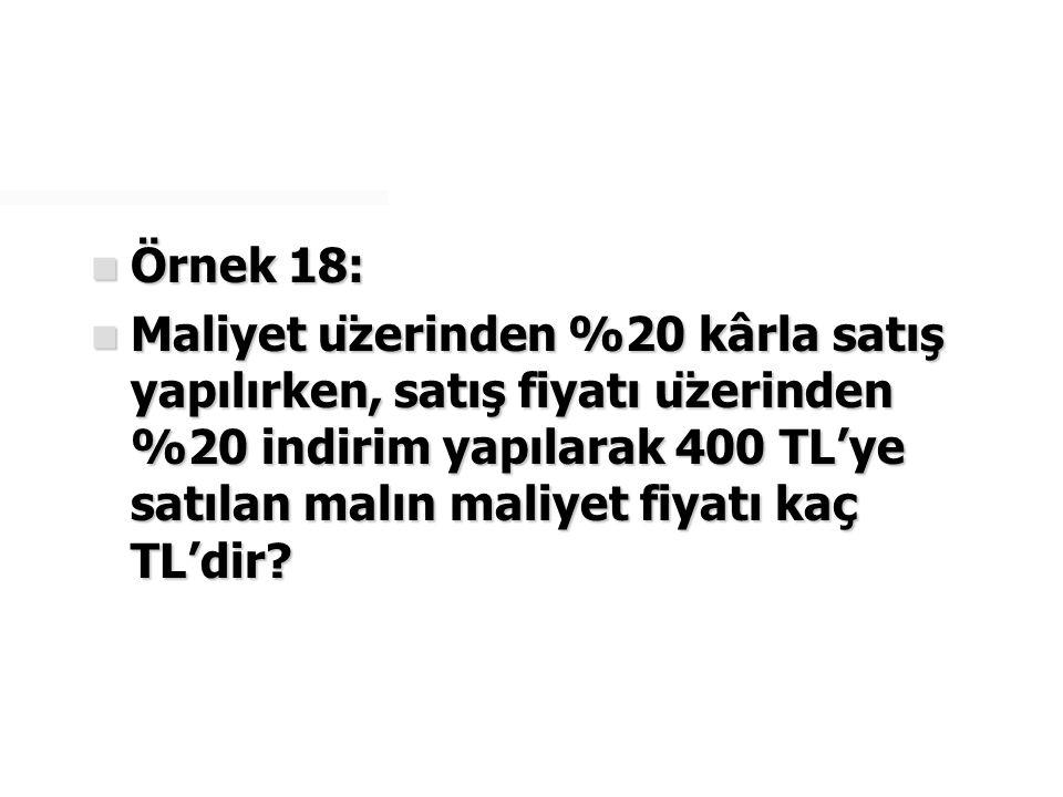 Örnek 18: