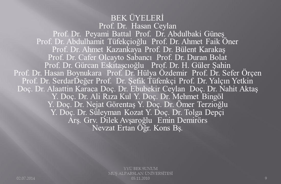 Prof. Dr. Peyami Battal Prof. Dr. Abdulbaki Güneş