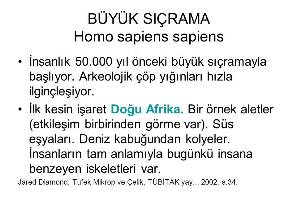BÜYÜK SIÇRAMA Homo sapiens sapiens