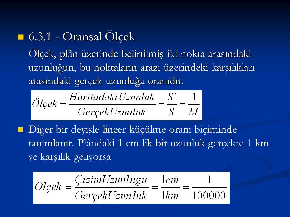6.3.1 - Oransal Ölçek