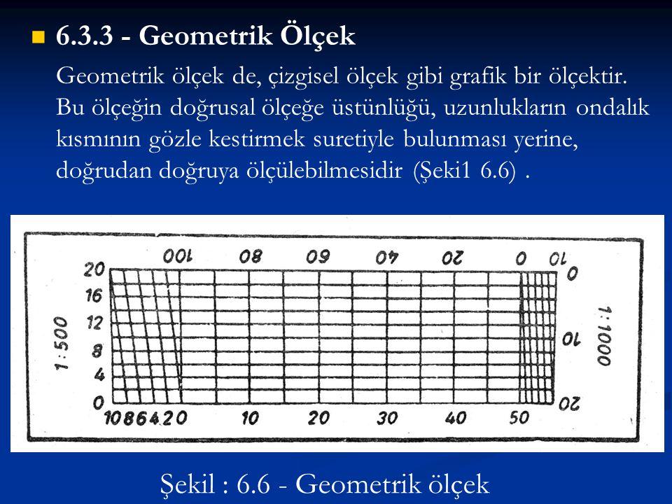Şekil : 6.6 - Geometrik ölçek