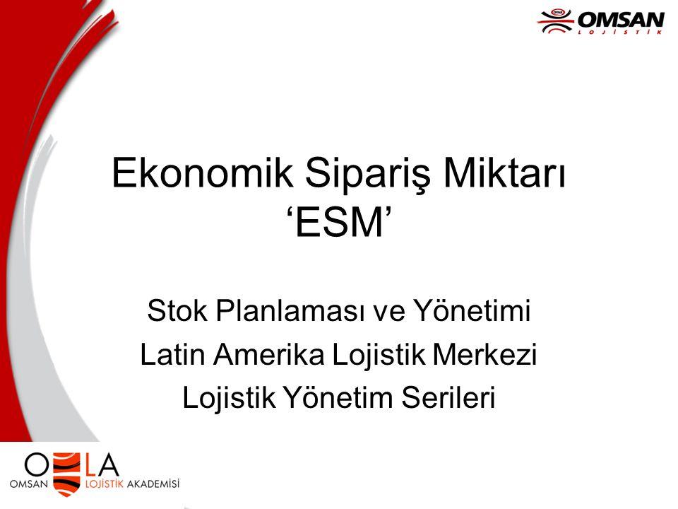 Ekonomik Sipariş Miktarı 'ESM'