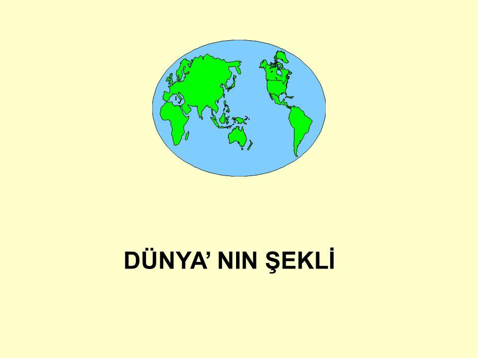 DÜNYA' NIN ŞEKLİ