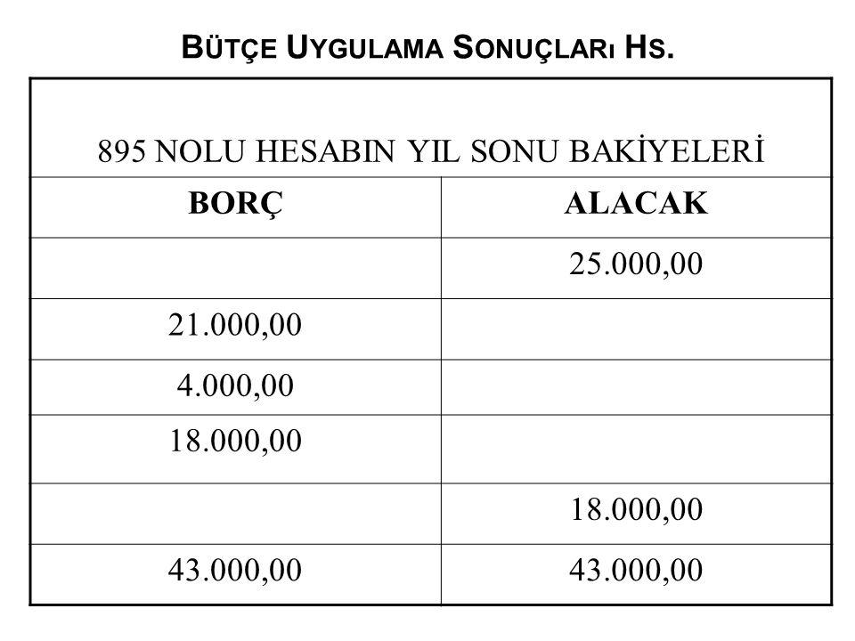 Bütçe Uygulama Sonuçları Hs.