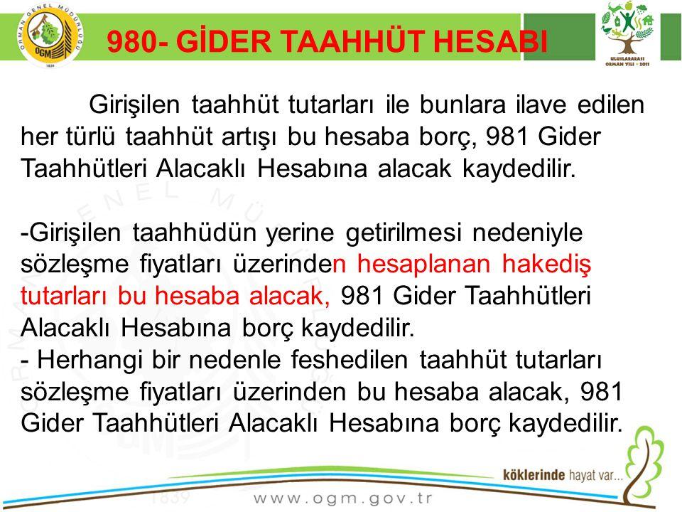 980- GİDER TAAHHÜT HESABI Kurumsal Kimlik. 16/12/2010.
