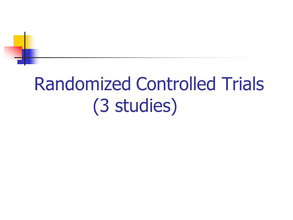 Randomized Controlled Trials (3 studies)