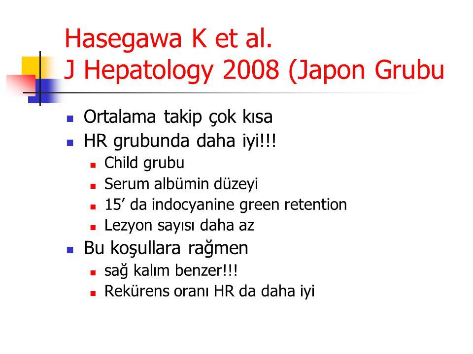 Hasegawa K et al. J Hepatology 2008 (Japon Grubu