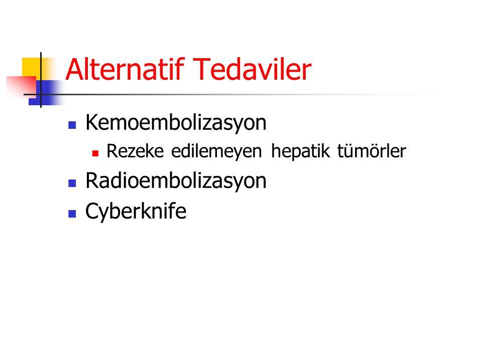 Alternatif Tedaviler Kemoembolizasyon Radioembolizasyon Cyberknife