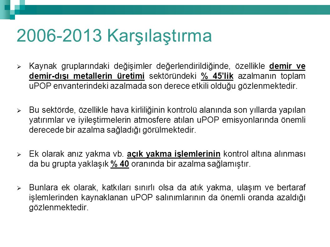 2006-2013 Karşılaştırma