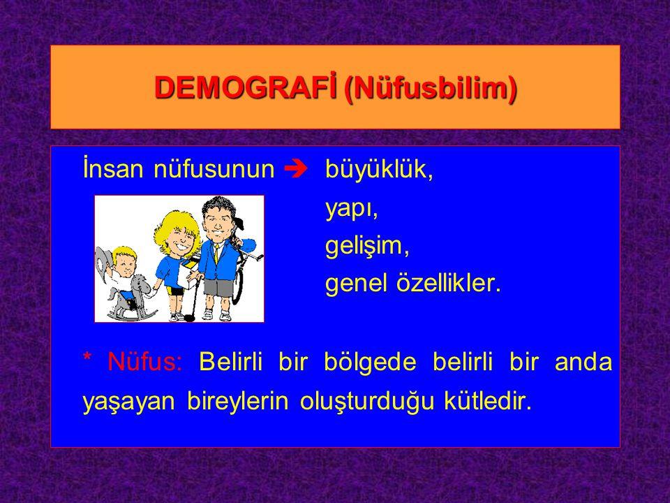 DEMOGRAFİ (Nüfusbilim)