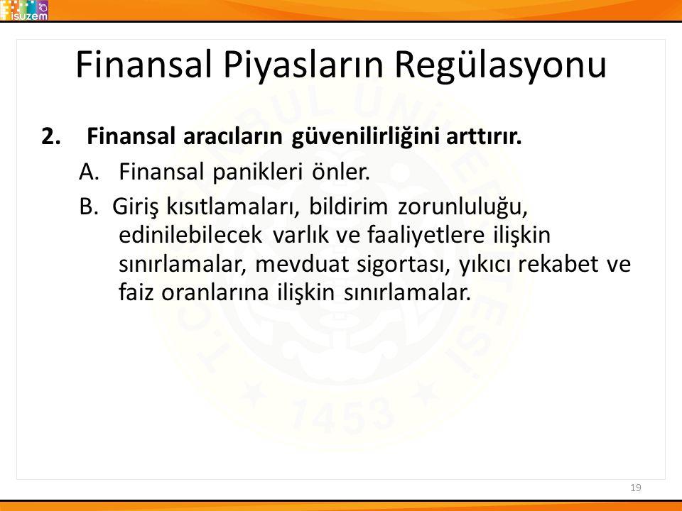 Finansal Piyasların Regülasyonu