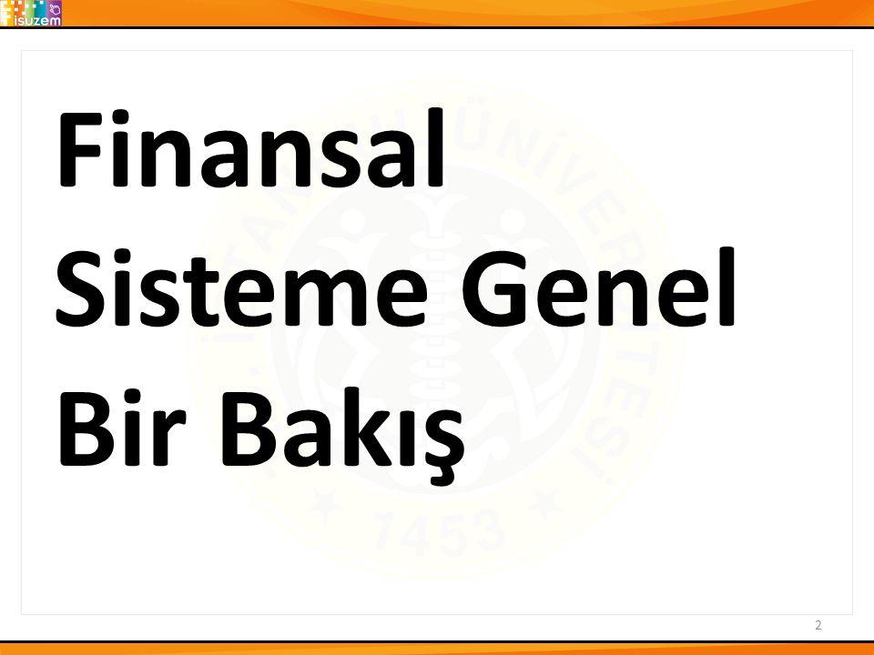 Finansal Sisteme Genel Bir Bakış