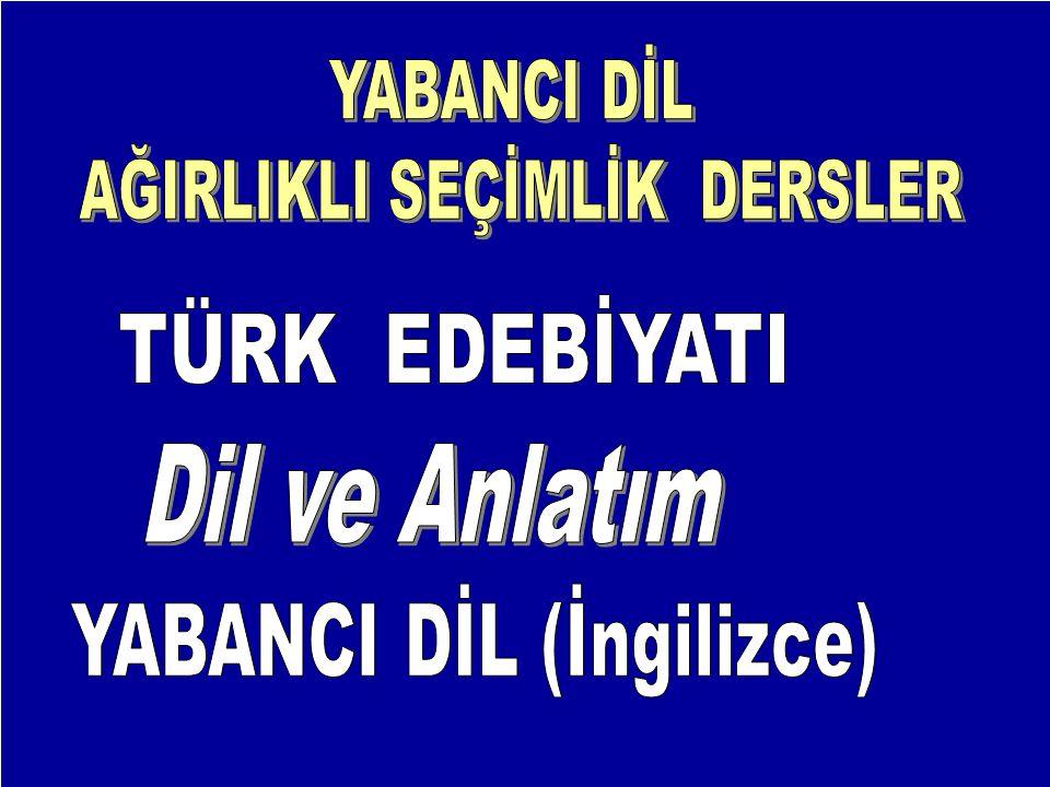 YABANCI DİL (İngilizce)