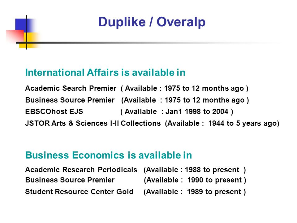 Duplike / Overalp International Affairs is available in