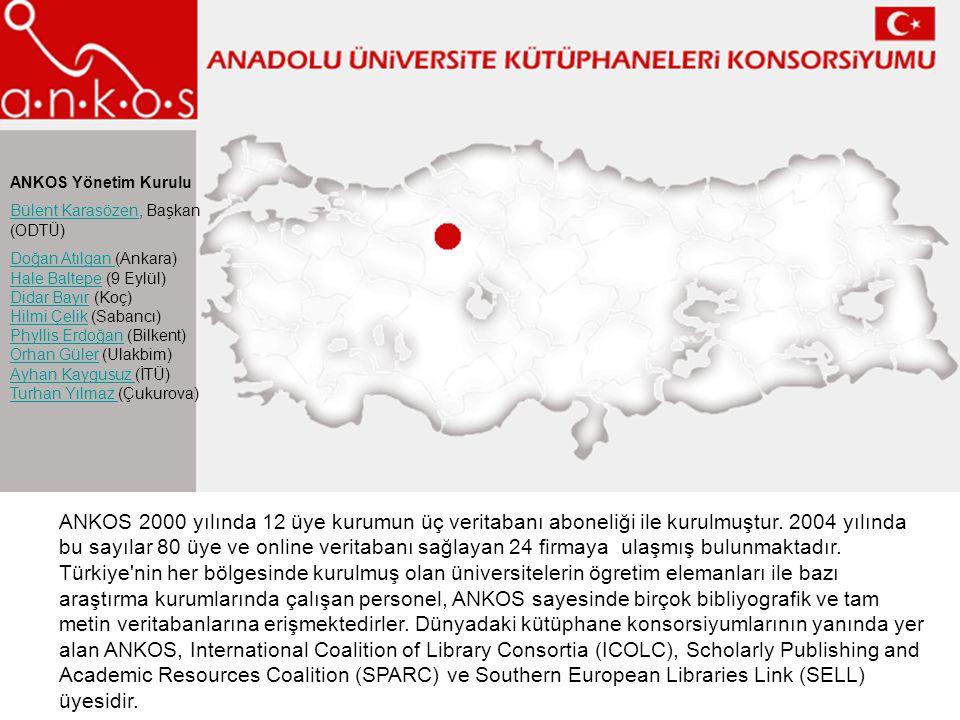 ANKOS Yönetim Kurulu Bülent Karasözen, Başkan (ODTÜ)