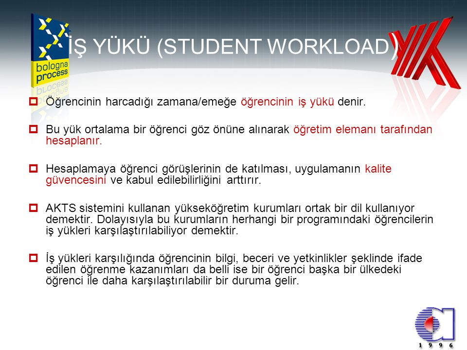 İŞ YÜKÜ (STUDENT WORKLOAD)