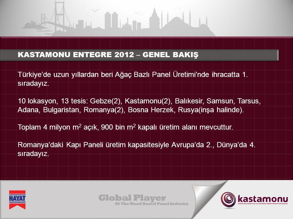 KASTAMONU ENTEGRE 2012 – GENEL BAKIŞ
