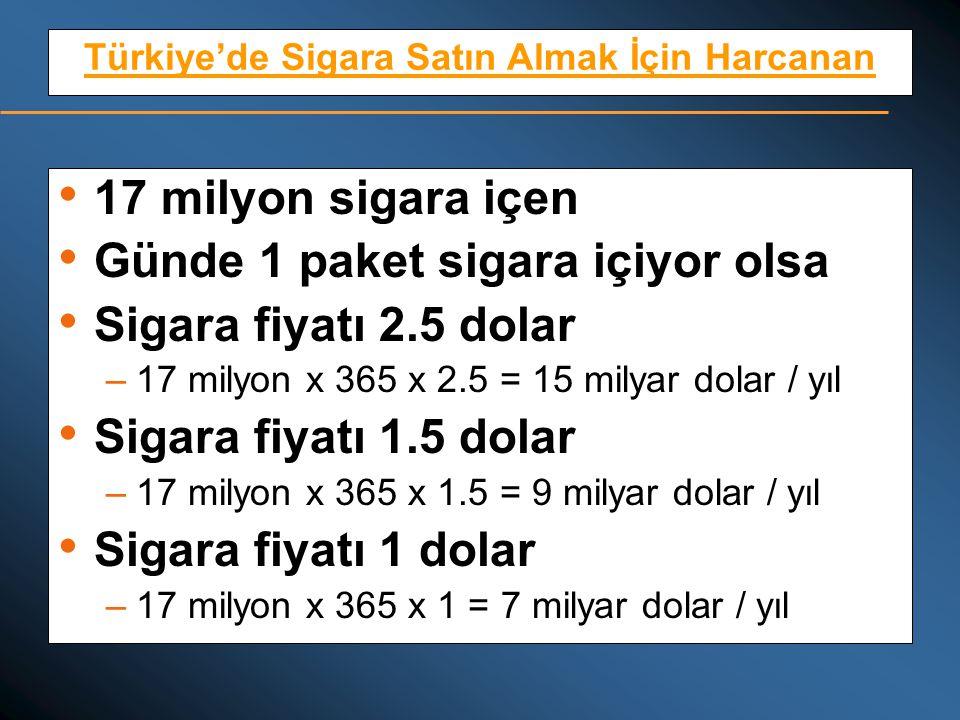 Türkiye'de Sigara Satın Almak İçin Harcanan
