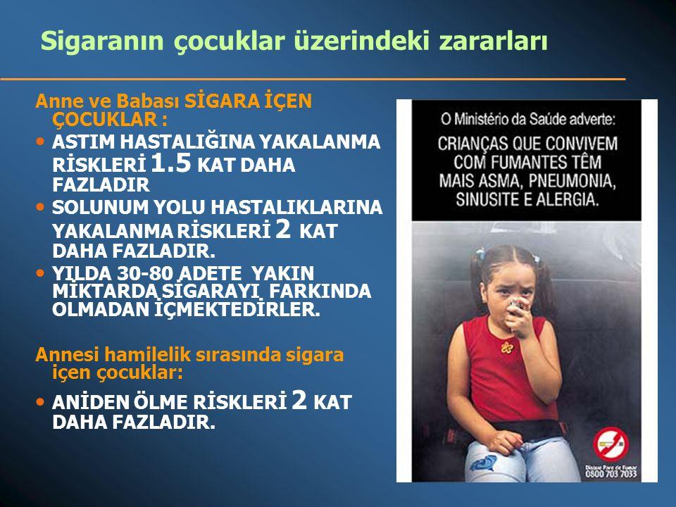 Sigaranın çocuklar üzerindeki zararları