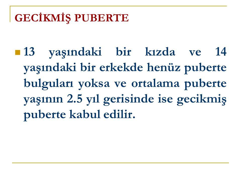 GECİKMİŞ PUBERTE