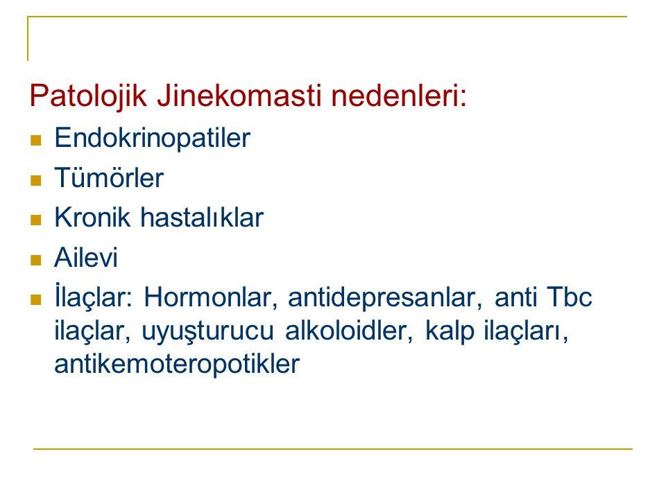 Patolojik Jinekomasti nedenleri: