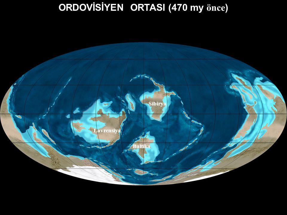 ORDOVİSİYEN ORTASI (470 my önce)