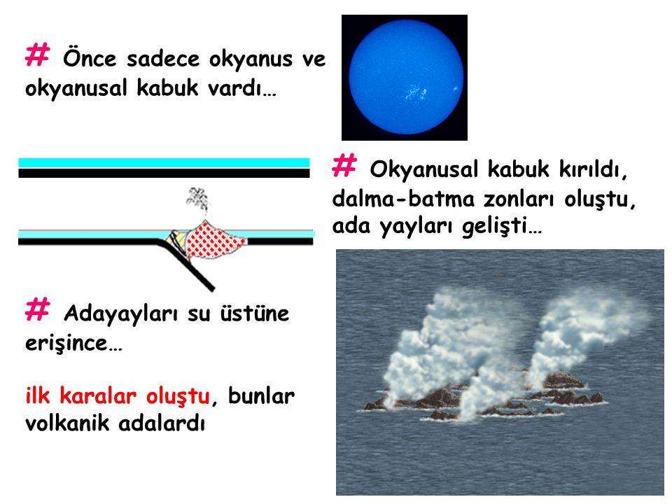 # Önce sadece okyanus ve okyanusal kabuk vardı…