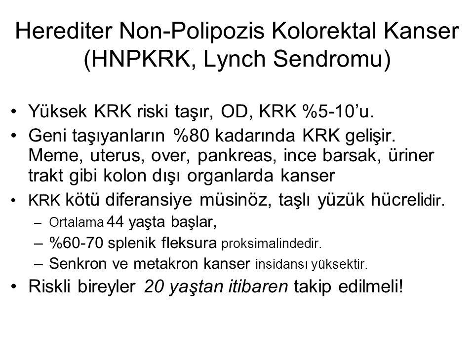 Herediter Non-Polipozis Kolorektal Kanser (HNPKRK, Lynch Sendromu)