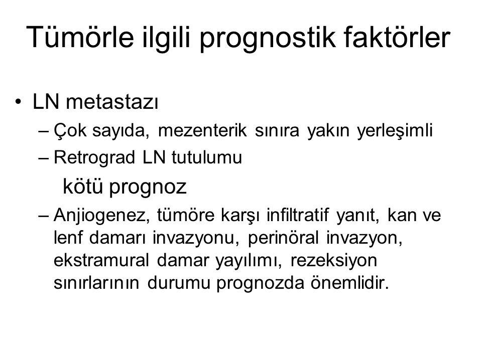Tümörle ilgili prognostik faktörler